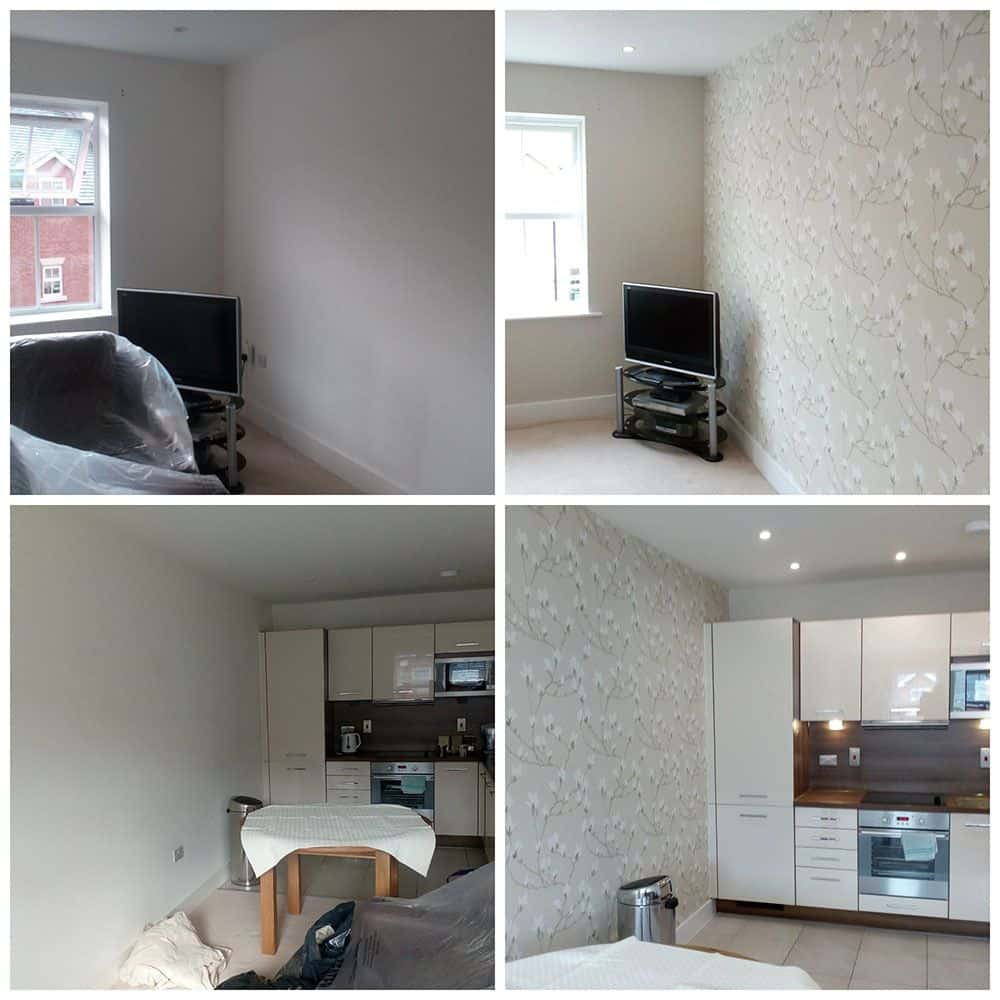 Painter and Decorator in Droitwich Wallpapering examples