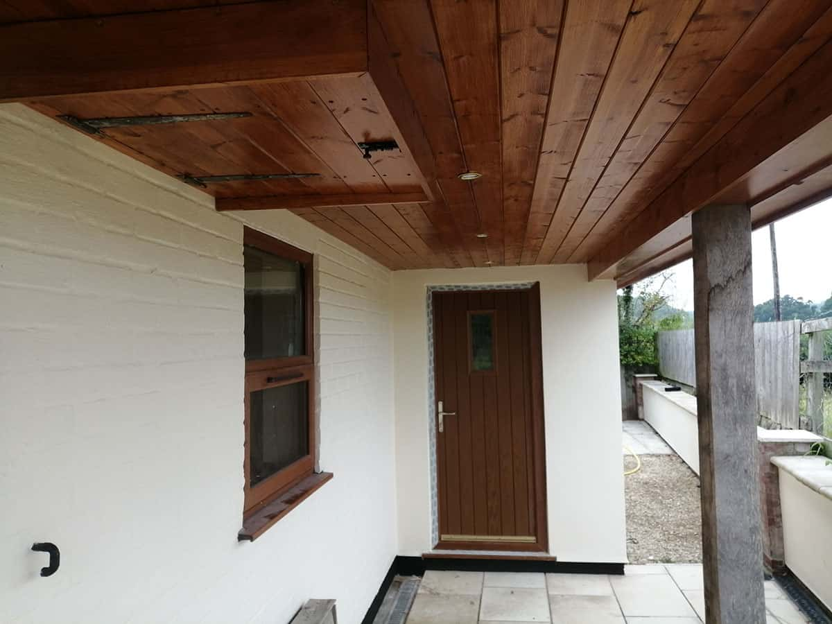 Sandtex Masonry Paint and Osmo Clear Wood Treatment
