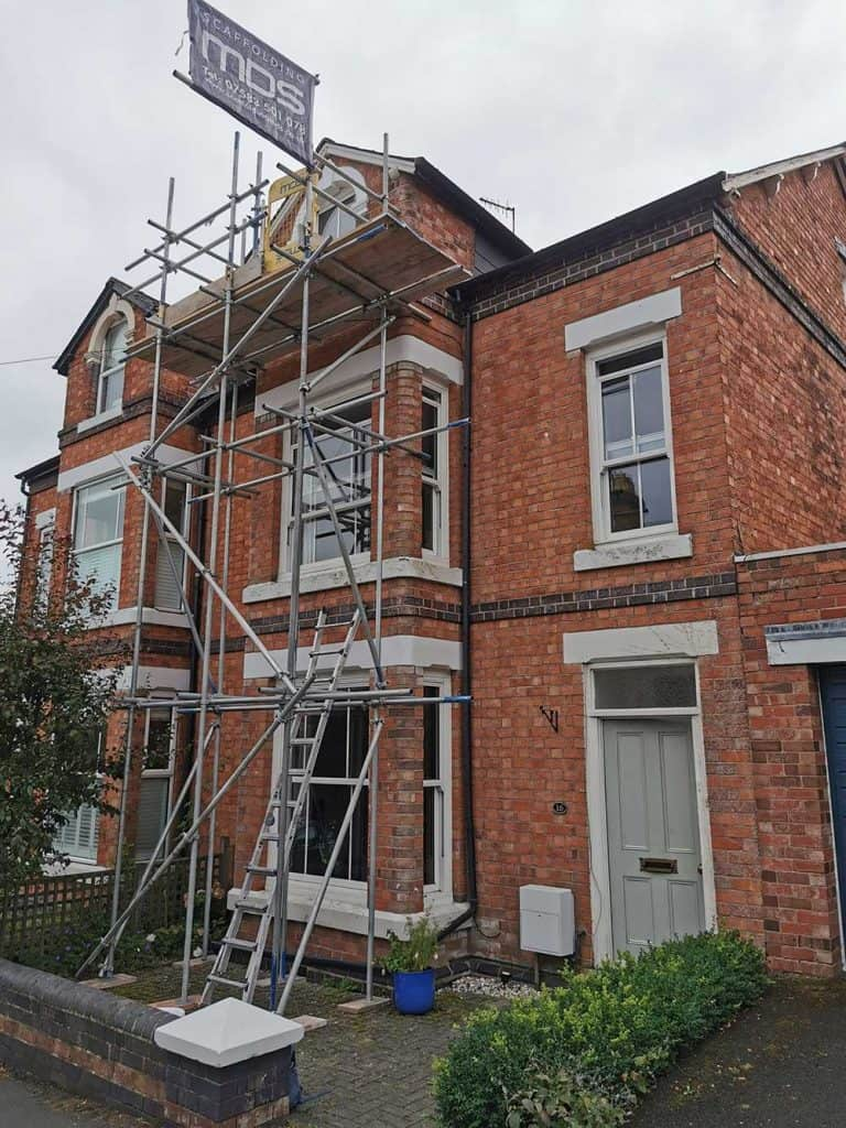 Exterior Work with Scaffolding