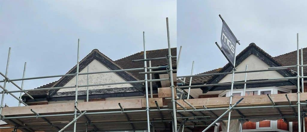 Repaint Gables with Scaffolding support